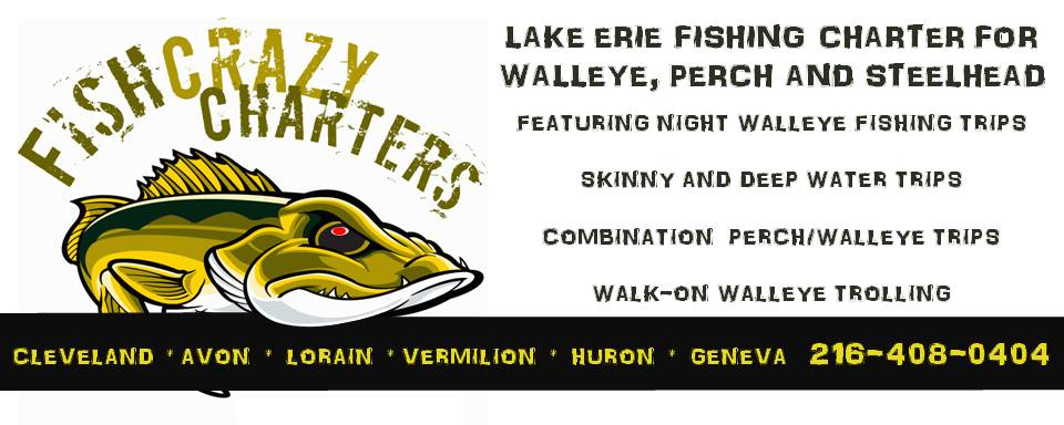 Affordable Walleye, Perch, and Steelhead Fishing ChartersLake Erie, Central & Wester BasinsCleveland, Avon, Lorain, Vermilion, and Huron Ohio