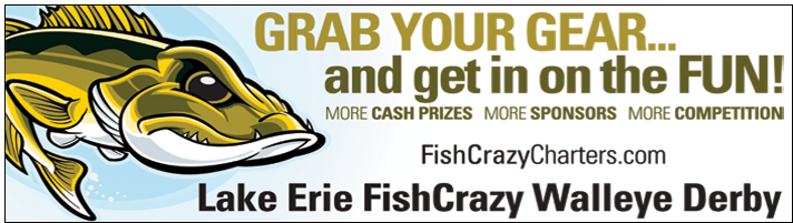Lake Erie Walleye Derby FishCrazy Ohio Waters Big Cash Money Prizes